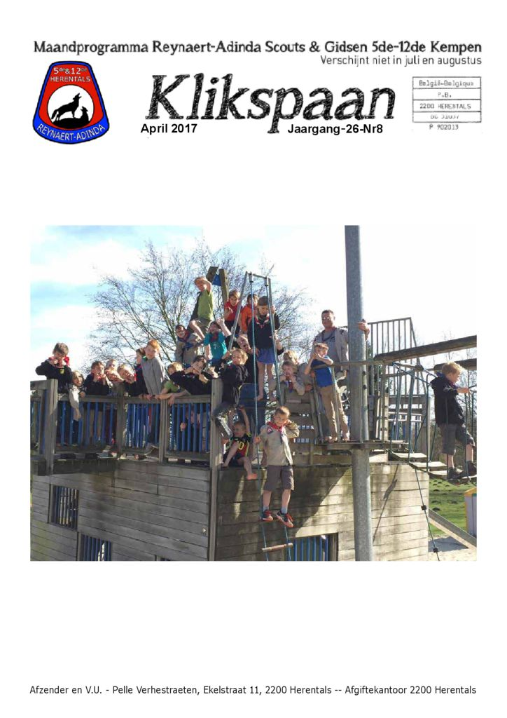 Klikspaan april 2017