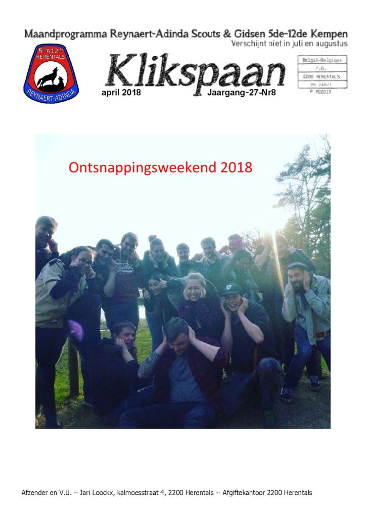 Klikspaan april 2018